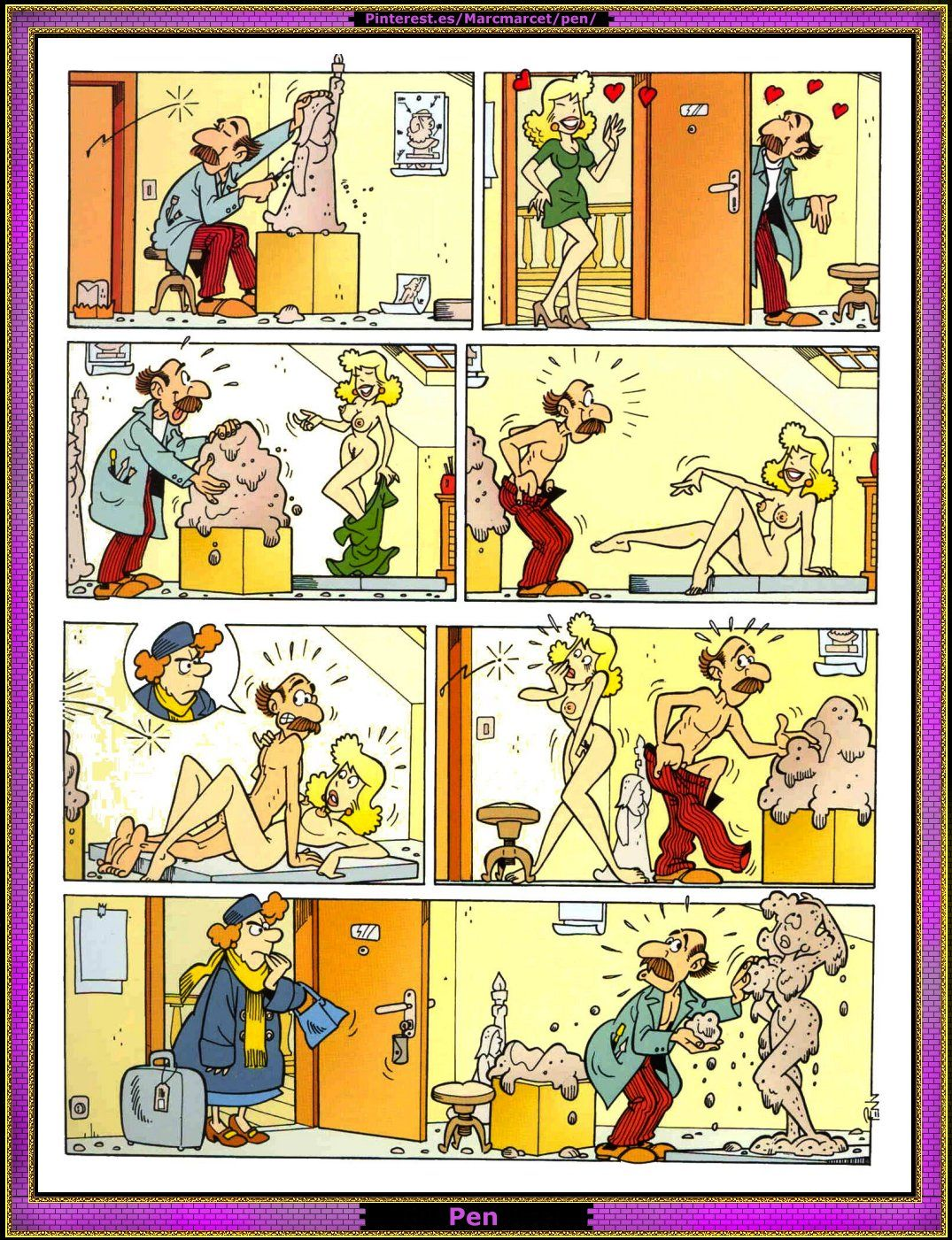 kreslené sexuální komixy