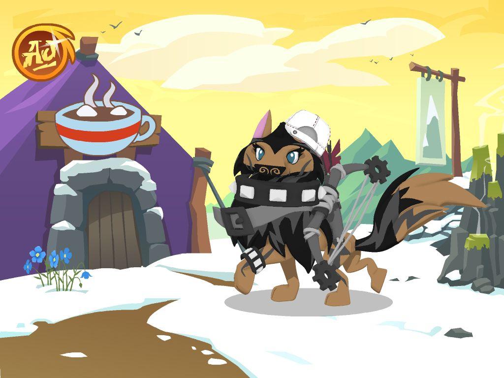 My animal jam artic wolf, Snowflake Icyspirit. my user is ...