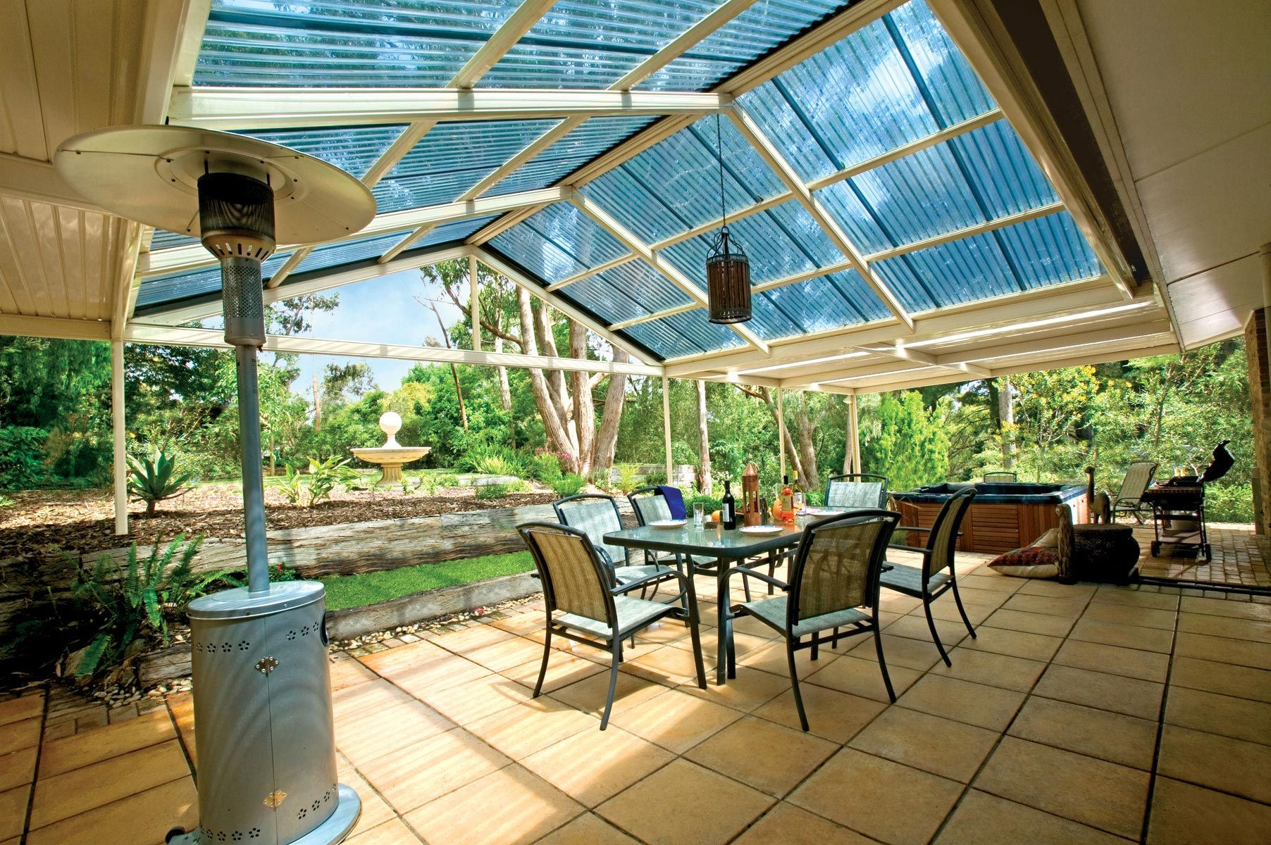 Exhibiting a strong presence and style, the pitched roof