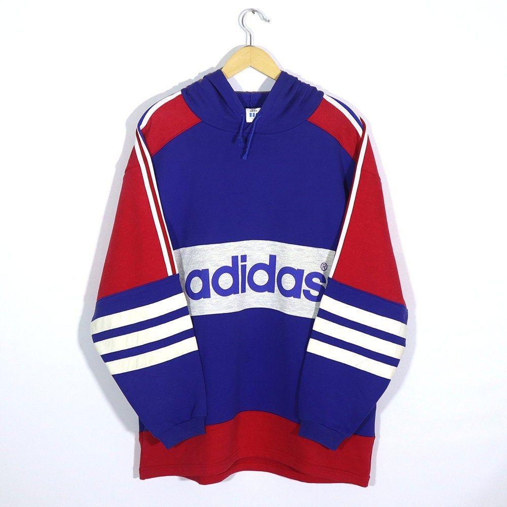 Rare Vintage 80s 90s Adidas Hoodie Sweatshirt Long Sleeve Etsy Long Sweatshirt Sweatshirts Hoodie Adidas Hoodie [ 1000 x 1000 Pixel ]