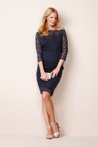 16a72581101 Buy Navy Lace Geo Dress (Maternity) online today at Next  Malaysia ...