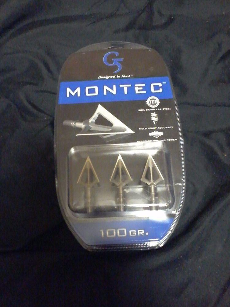 G5 Montec 100 Grains Broadhead 3 Pack