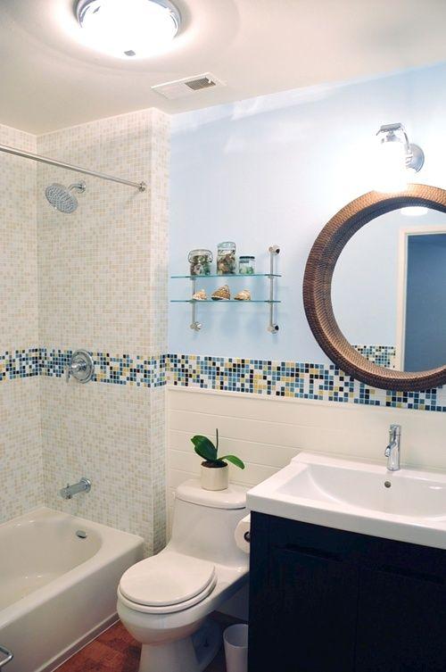 Modern Bath Design In Kaleidoscope Colorways Winter Blend Glass