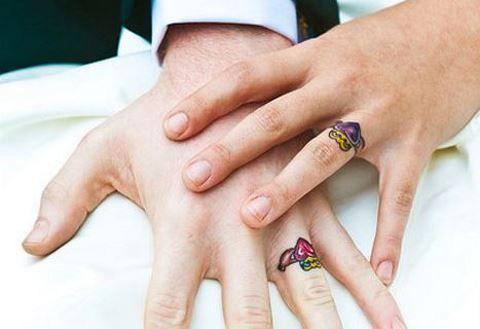 20+ bruid en bruidegom tatoeages