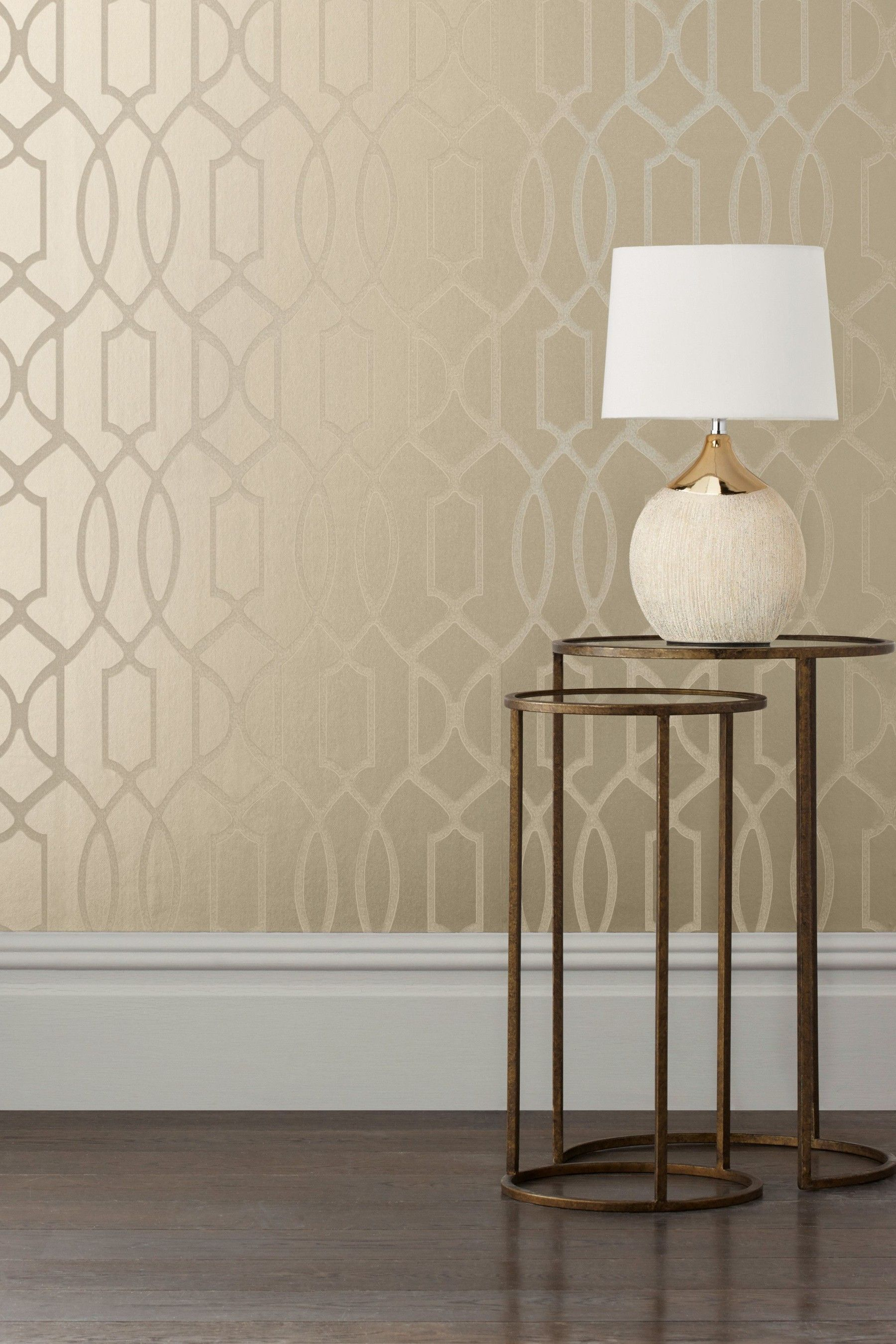 Paste The Wall Lattice Surface Print Wallpaper (With