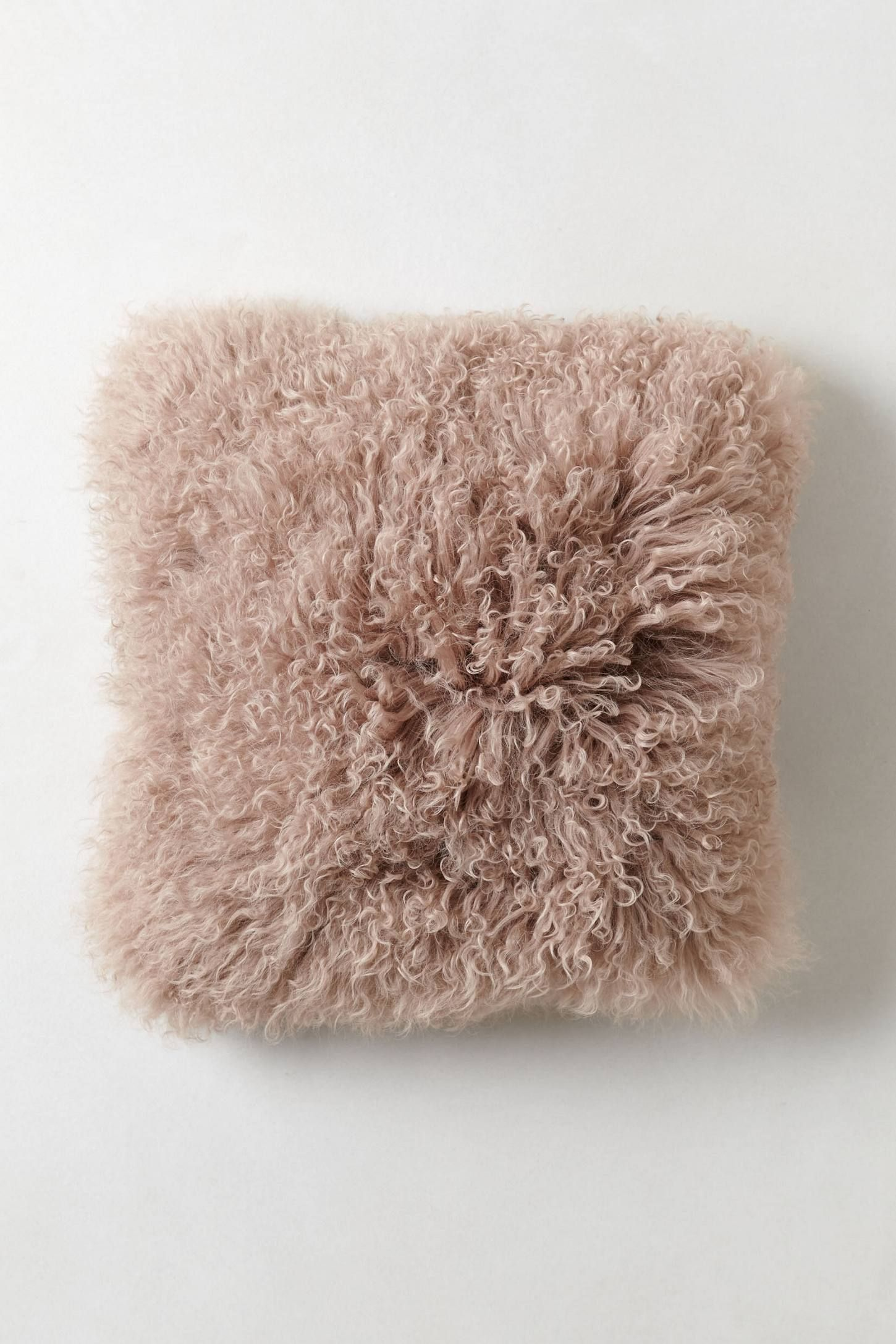 Luxe Fur Pillow - anthropologie.com in blush