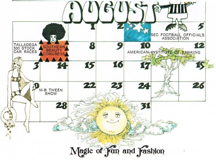 Auguat 1972 Calendar Google Search Design
