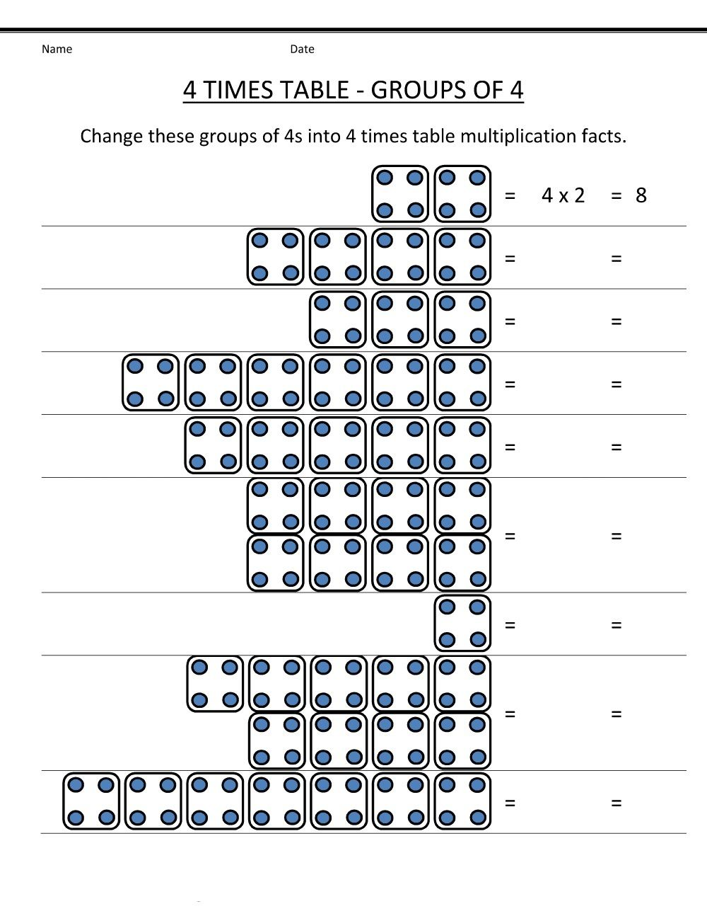 4 Times Tables Worksheets Free Printable Educative Printable Times Tables Worksheets Times Tables 4 Times Table