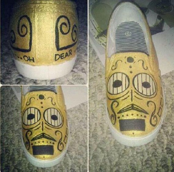 d3f2860ef7 Day of the Dead C3PO shoes