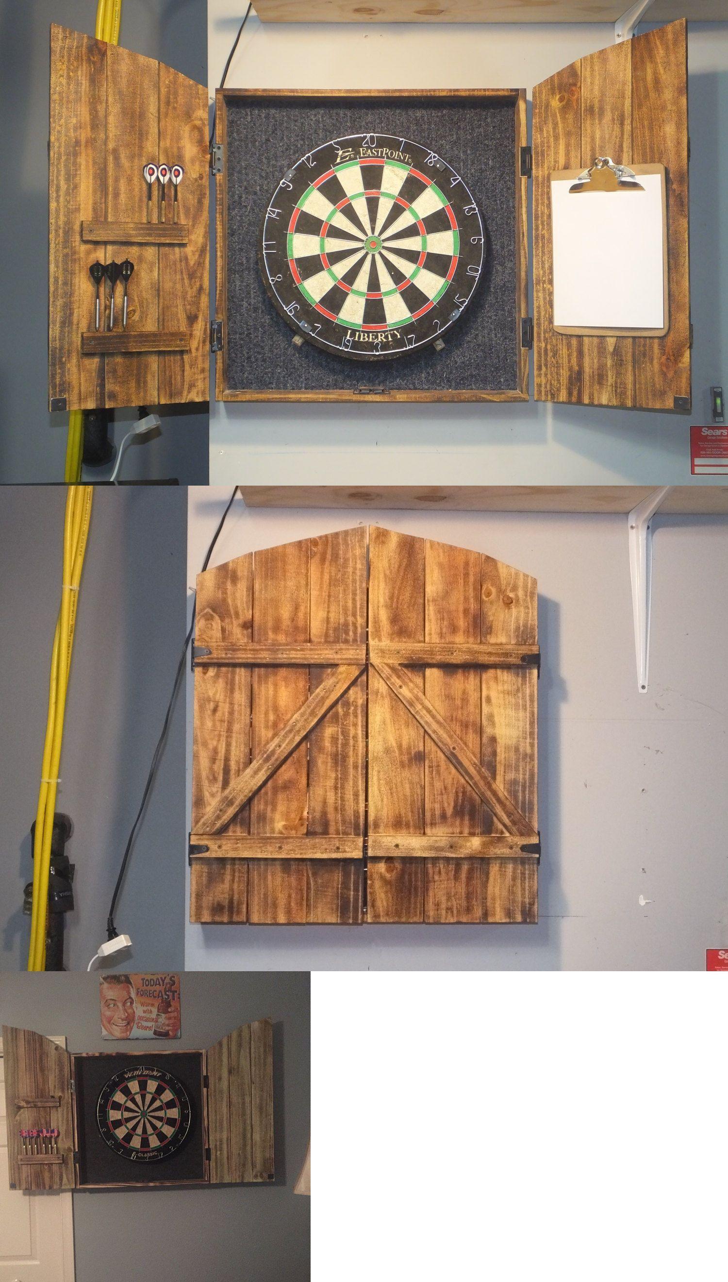 Dart Boards 72576 Dartboard Cabinet Dart Board Solid Rustic Wood Set Dart Score In 2020 Dartboard Cabinet Diy Dart Board Cabinet Dart Board