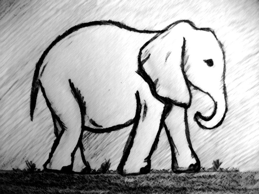 elephant sketch for bunting | Extreme Craftiness | Pinterest ...
