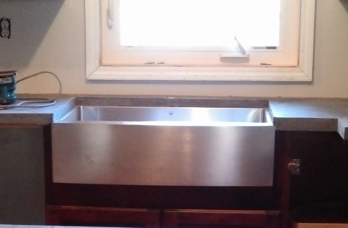 Stainless steel apron sink by Vigo Garage apartment Pinterest