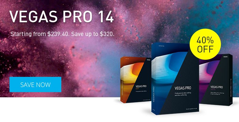 Get 40% Discount on MAGIX Vegas Pro 14  VEGAS Pro 14 is your