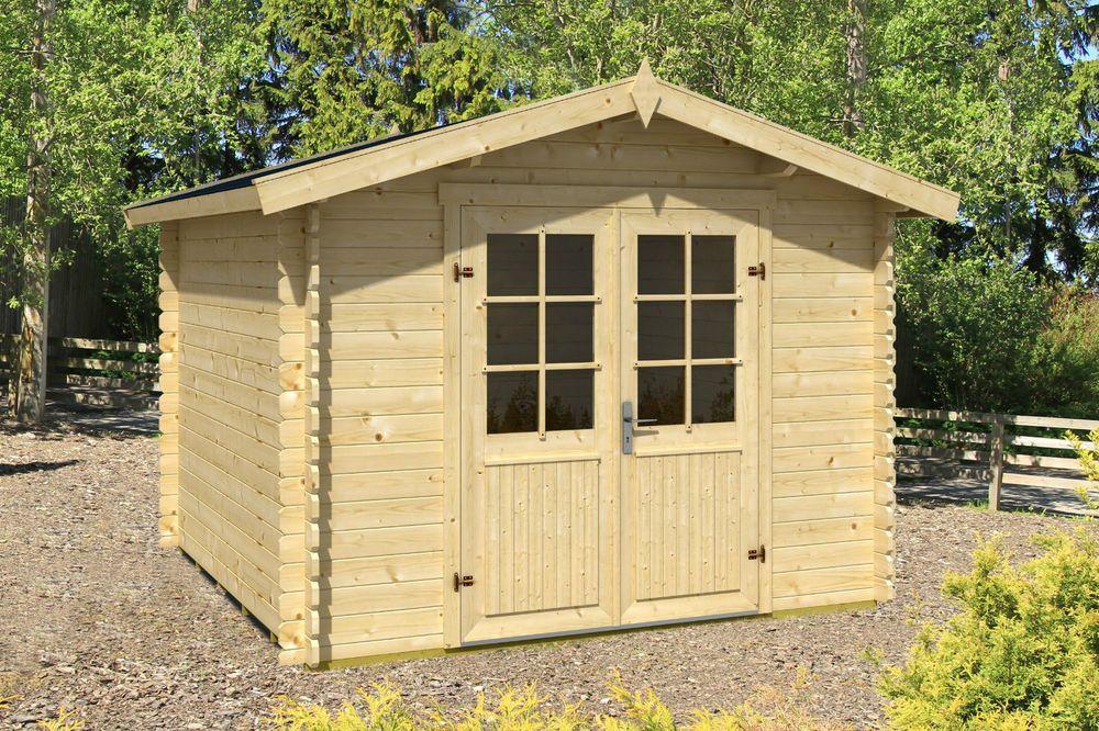 Gerätehaus Gartenhaus 3 x 3 m,  28 mm, Topangebot, Aktionspreis solange Vorrat !
