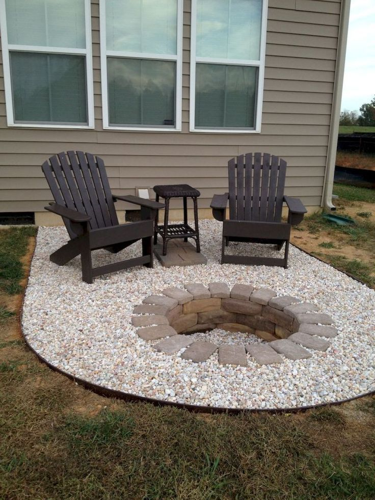 75 simple and inexpensive ideas for fire pit and garden design #yardideas