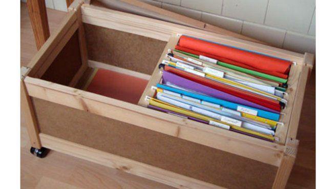 Un Meuble Ikea En Rangement De Dossiers Suspendus Rangement Dossier Rangement Dossier Suspendu Ikea Rangement