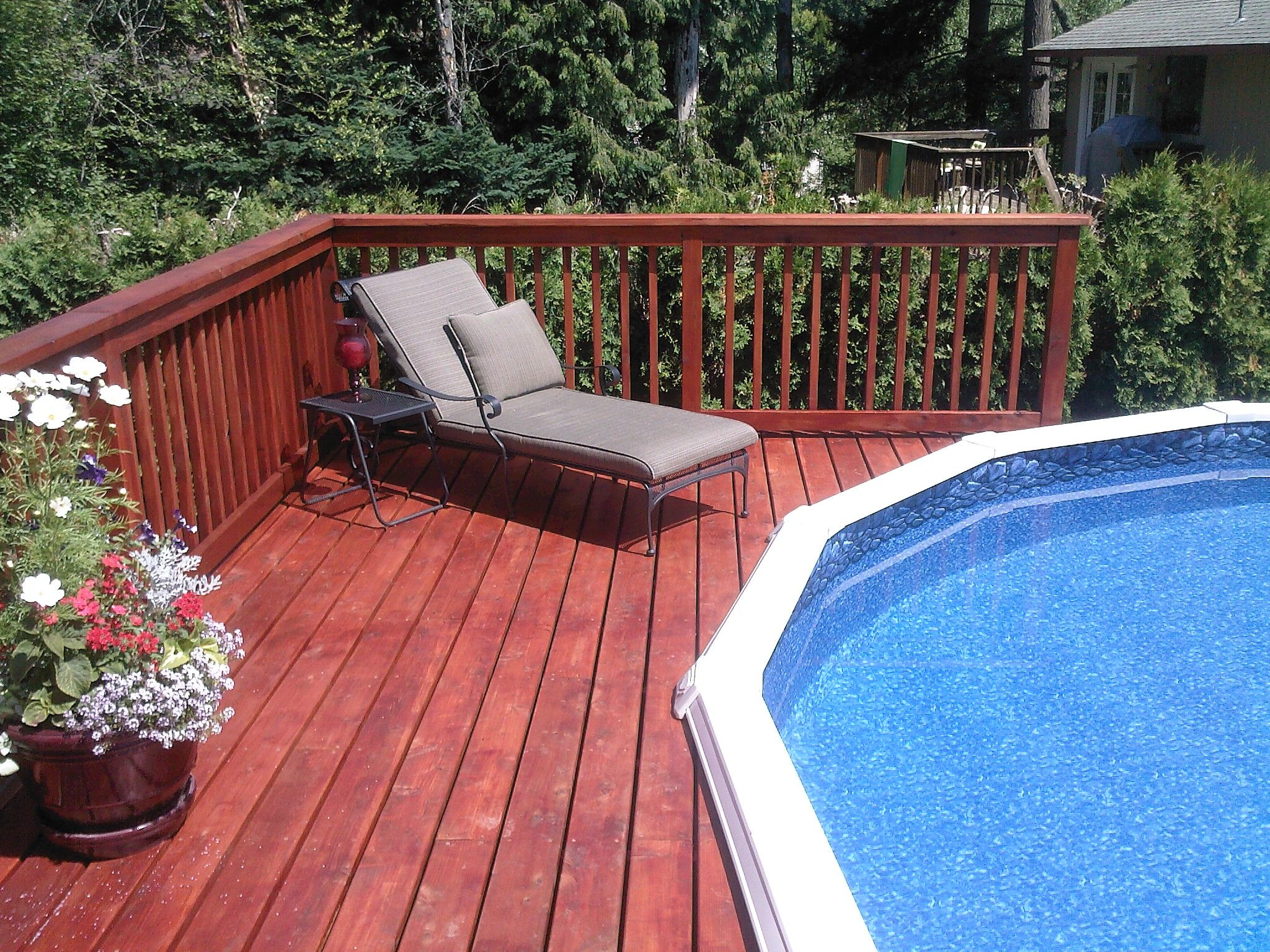 21 attractive wooden deck design of swimming pool - aida homes