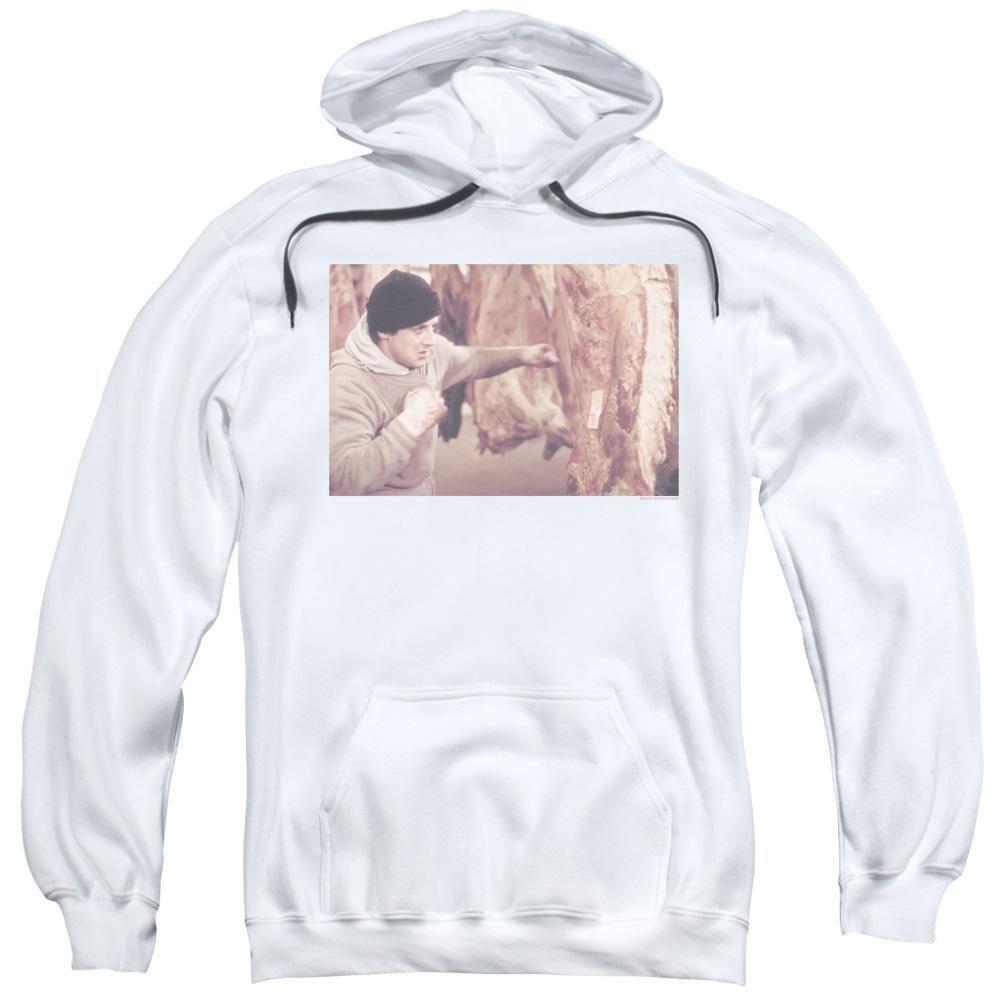 Rocky Punching Meat White Hoody Shirts