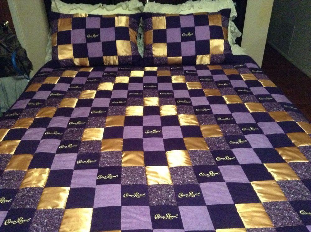 Crown Royal Quilt with Satin Diamond Pattern with matching Pillow ... : crown royal quilt patterns free - Adamdwight.com