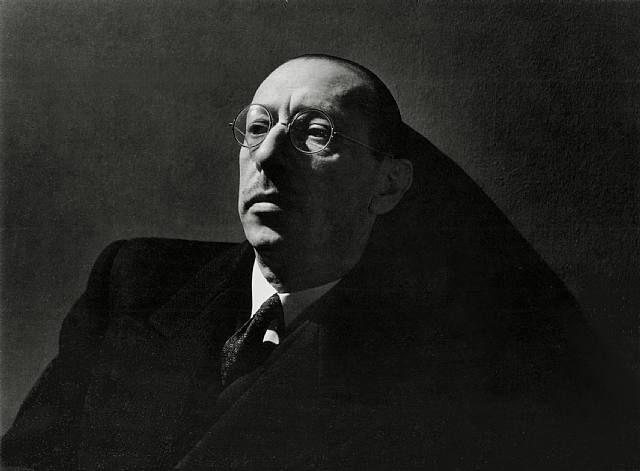 Russian, and later French and American composer, pianist and conductor, Igor Stravinsky. portrait by George Hoyningen-Huene