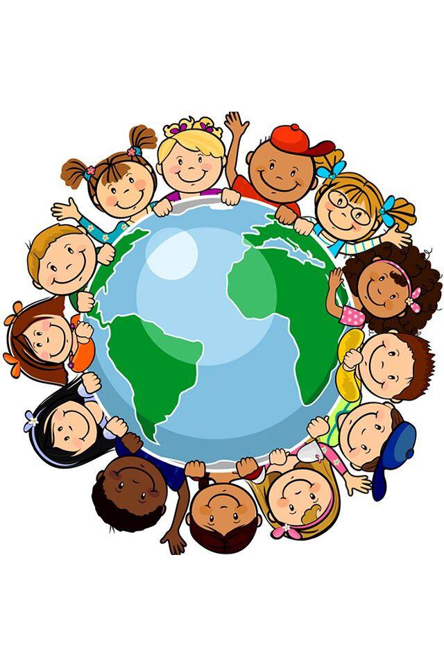 Ninos Jungando Dibujo Al Rededor Del Mundo Busqueda De Google Derechos De Los Ninos Decoracion Aula De Preescolar Collage De Ninos