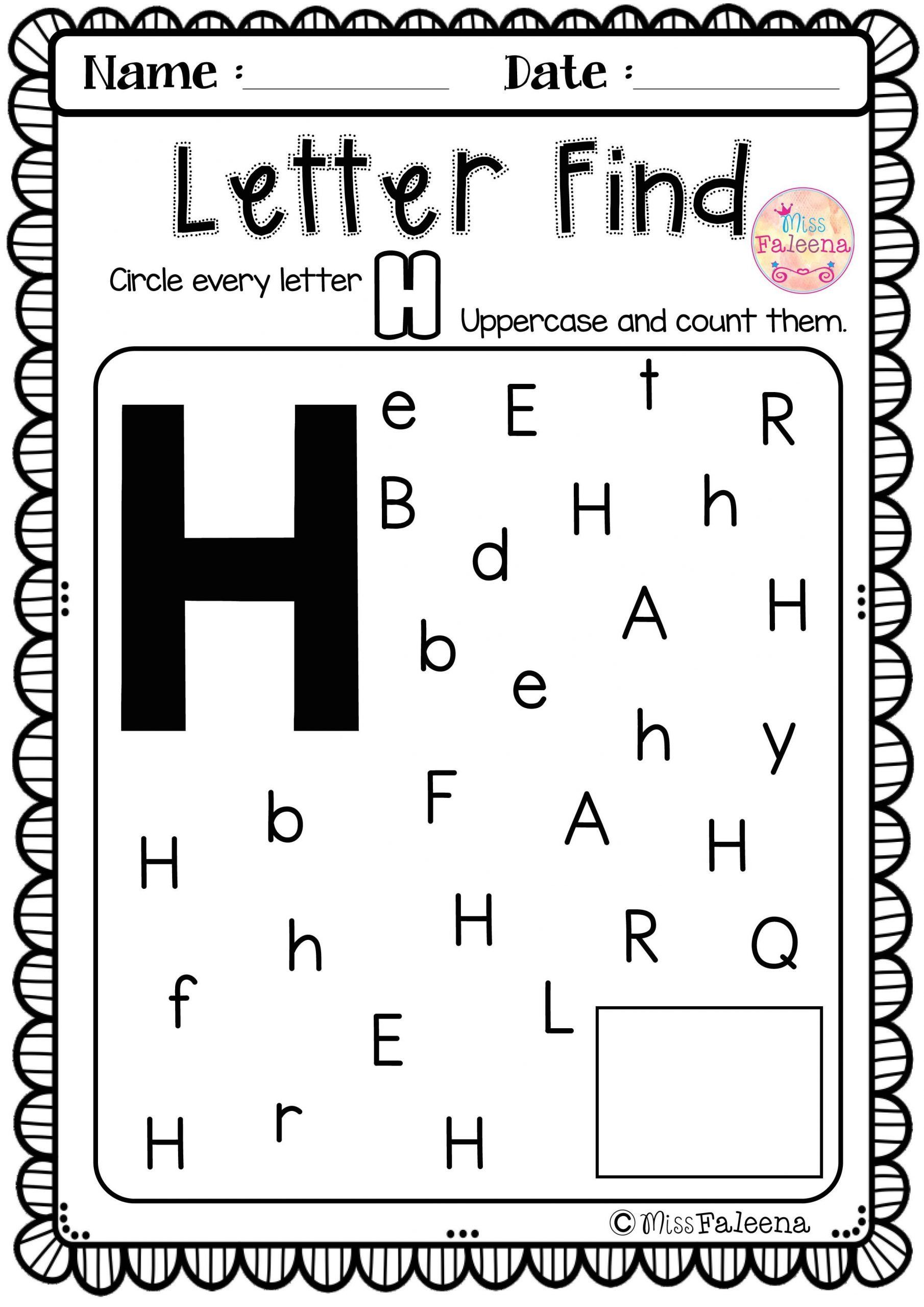 Letter Recognition Worksheets For Kindergarten Alphabet
