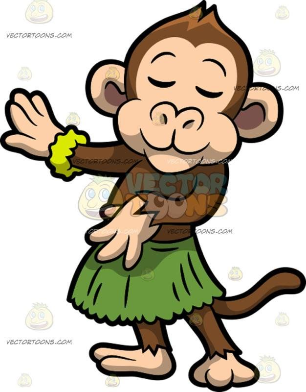 A Monkey Hula Dancing Dancing Animals Hula Dance Hula