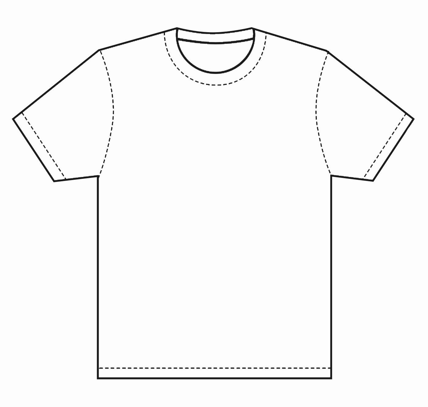 Blank Tshirt Template Awesome Blank T Shirt Coloring Page Thekindproject Shirt Sketch Shirt Drawing Shirt Template