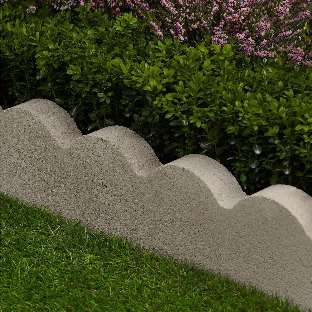 15 Outstanding Contemporary Landscaping Ideas Your Garden: Bradstone Scalloped Edgings Grey 600x150x50