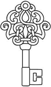 Antique Key Design Uth2544 From Urbanthreads Com Embroidery Designs Coloring Pages Pattern