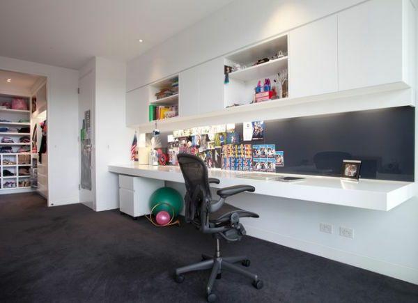 designs uniques de bureau suspendu bureau noir chaises. Black Bedroom Furniture Sets. Home Design Ideas