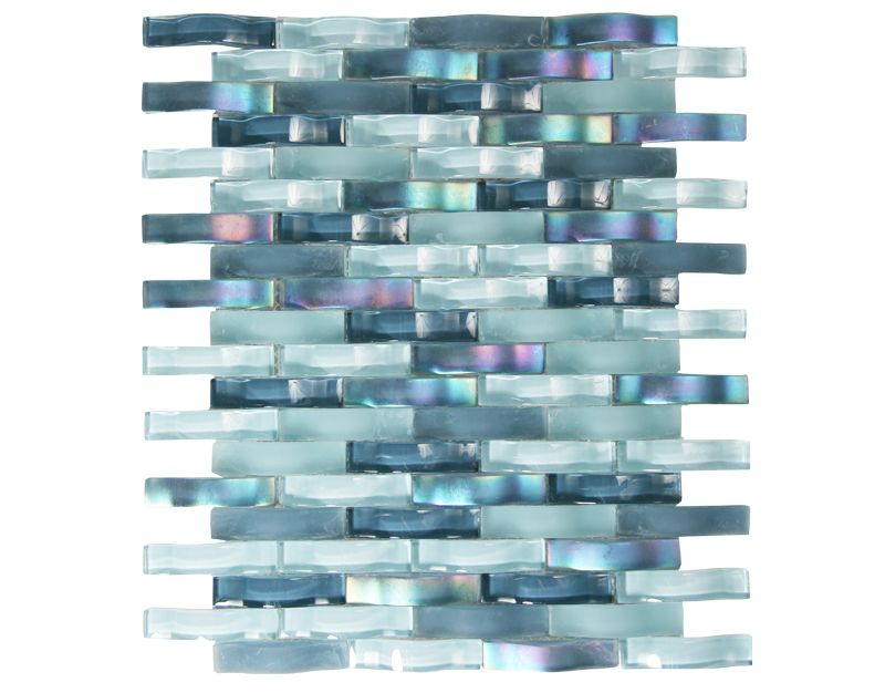Moving Color Tiles from ocean mosaics. curved glass that simulates moving water with