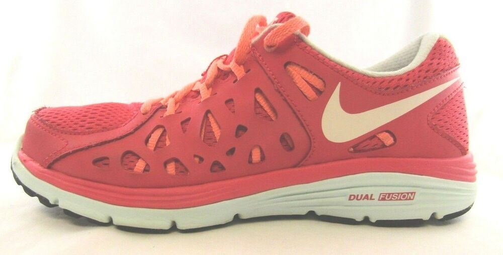 new concept fb0a2 9aad3 Nike Dual Fusion Run 2 Pink Coral Running Shoes Women 8.5 599564 600  Nike   RunningShoes