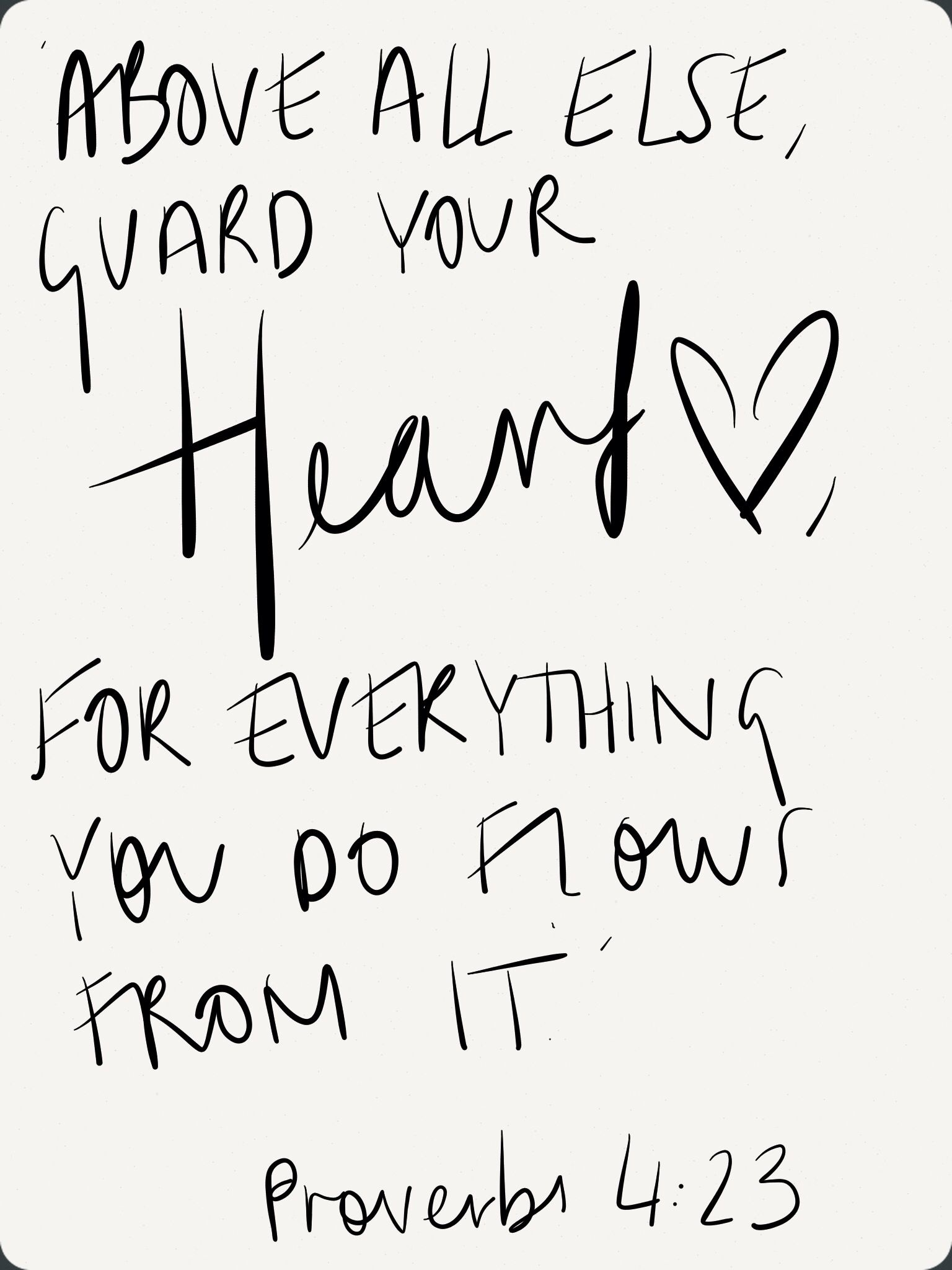 Above All Else Guard Your Heart For Everything You Do