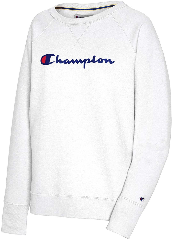 Women S Powerblend Graphic Boyfriend Crew Fun Sweatshirts Sweatshirts New Champion [ 1500 x 1076 Pixel ]