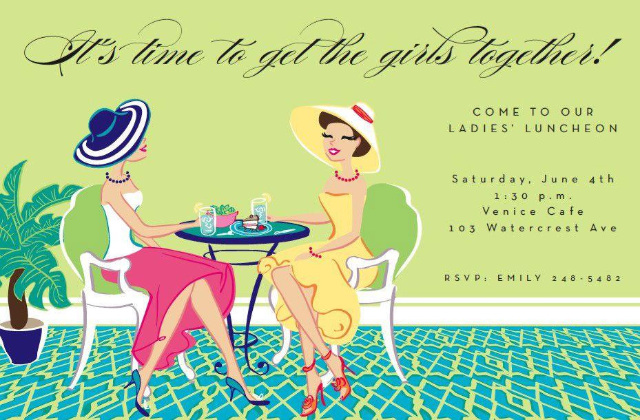 lunch girls invitation