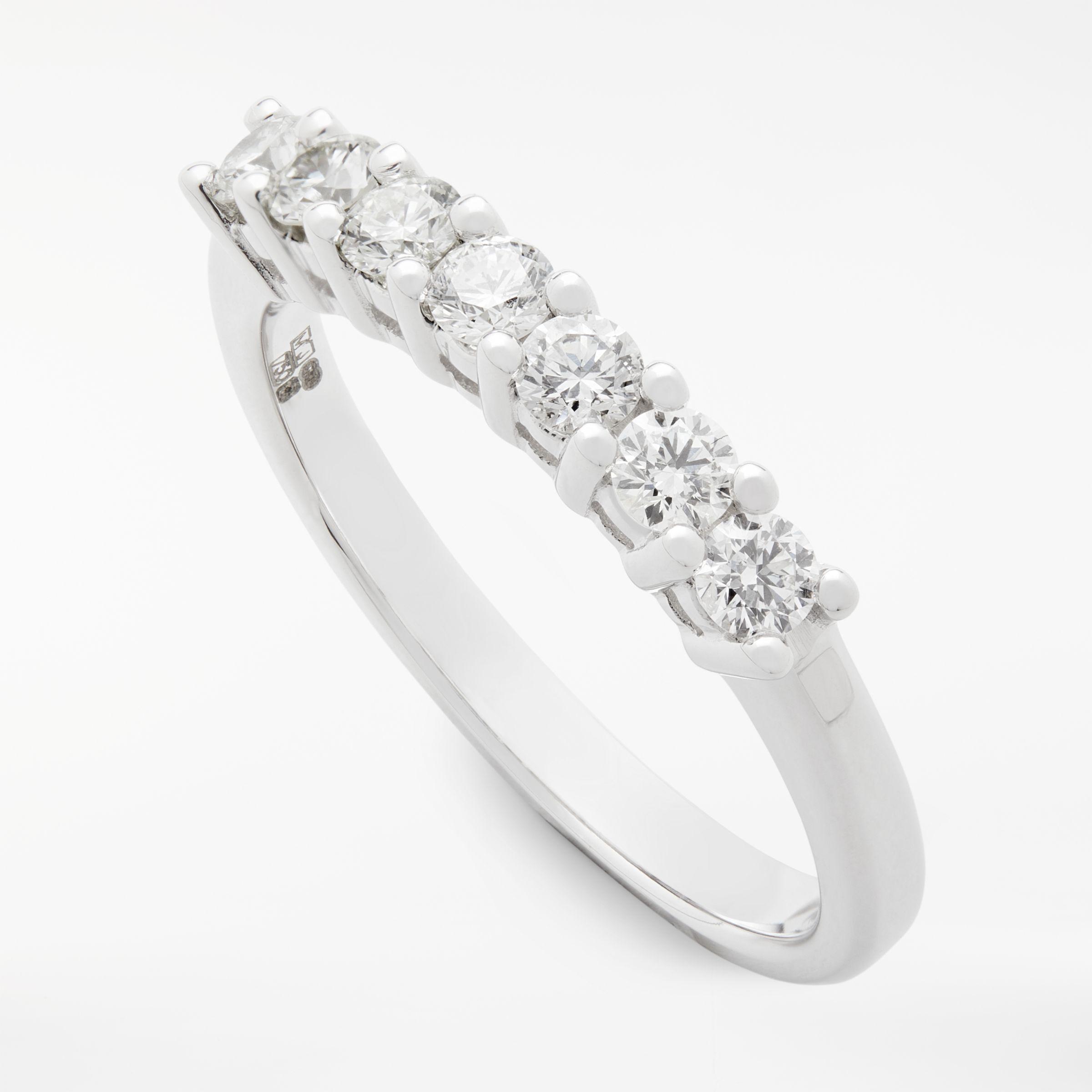 Mogul 18ct White Gold Round Brilliant Diamond Eternity Ring 0 5ct In 2020 Eternity Ring Diamond Brilliant Diamond Eternity Ring