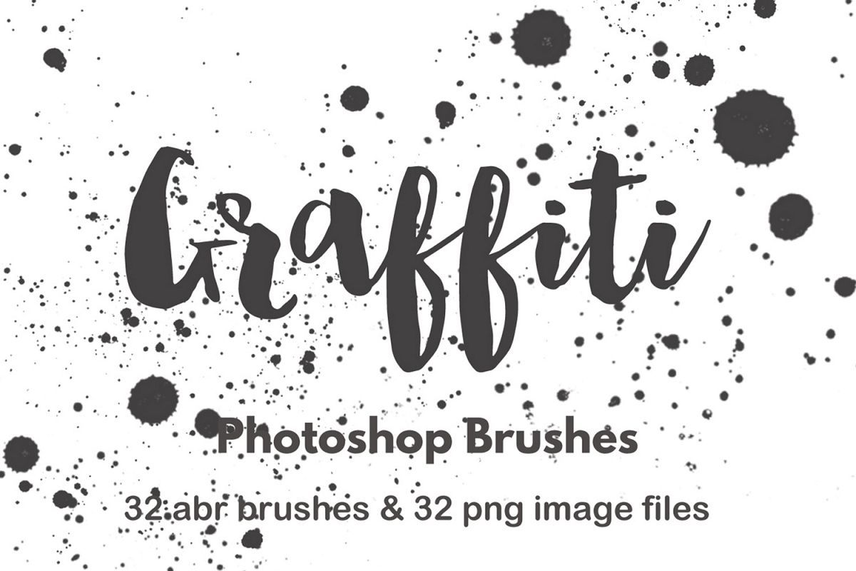 Photoshop Brushes Watercolor Paint Splatter Grunge Graffiti