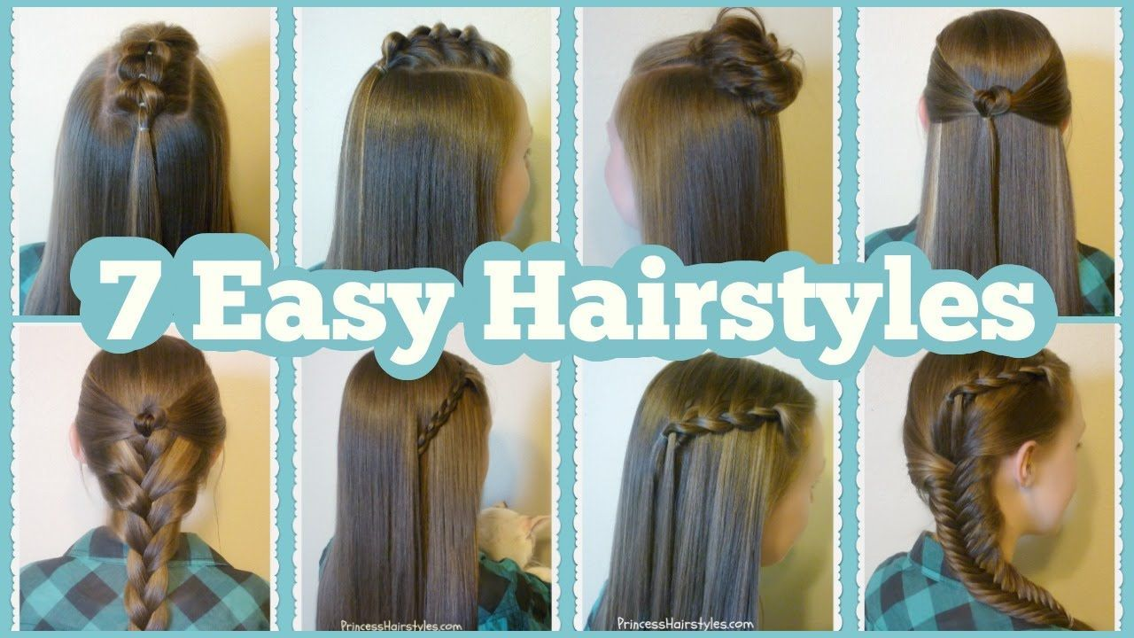 quick and easy hairstyles for school youtube easyhairstyles