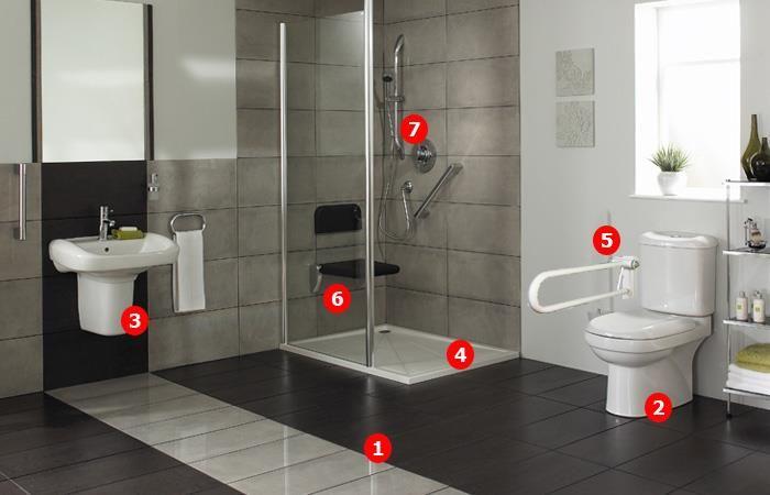 Cuartos de Baño accesible para personas con discapacidad ...