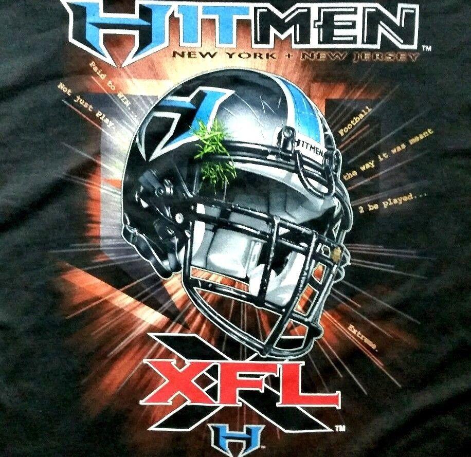 6f24be358 XFL Hitmen New York New Jersey Black Football T-shirt XL  Champion   XFLNYNJHitmen