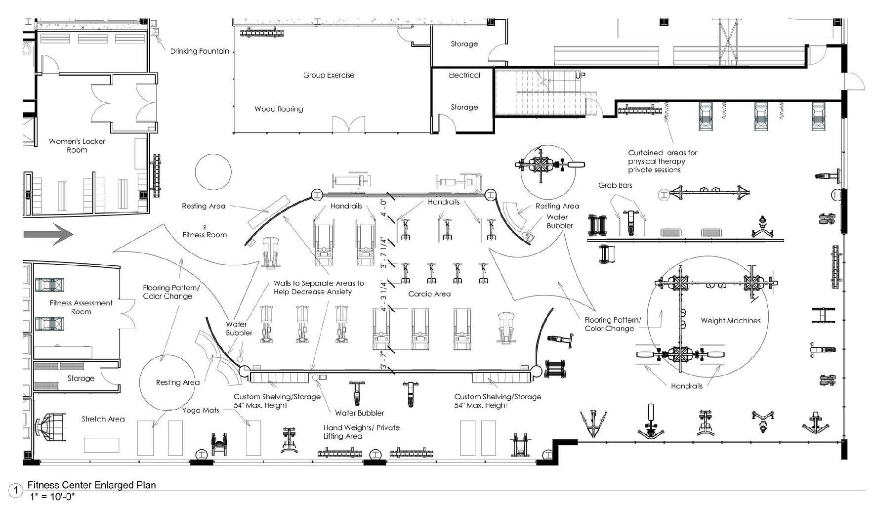 Fitness Gym Floor Plan Sevenstonesinc Com Dengan Gambar