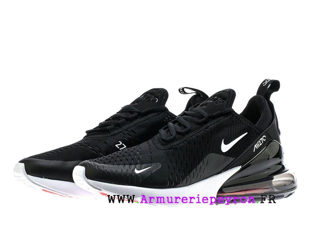 blanc Noir Nike Air Max 270 Chaussure de course Pas Cher