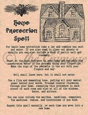 Home Protection Spell, Real Wicca Spell for your Book of