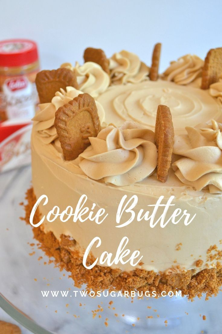 Cookie Butter Cake with Cookie Butter Swiss Meringue ~ two sugar bugs