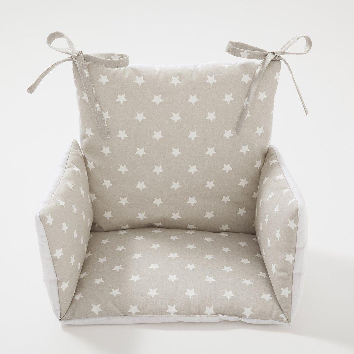 Coussin chaise haute Etoile gris perle | Babies on