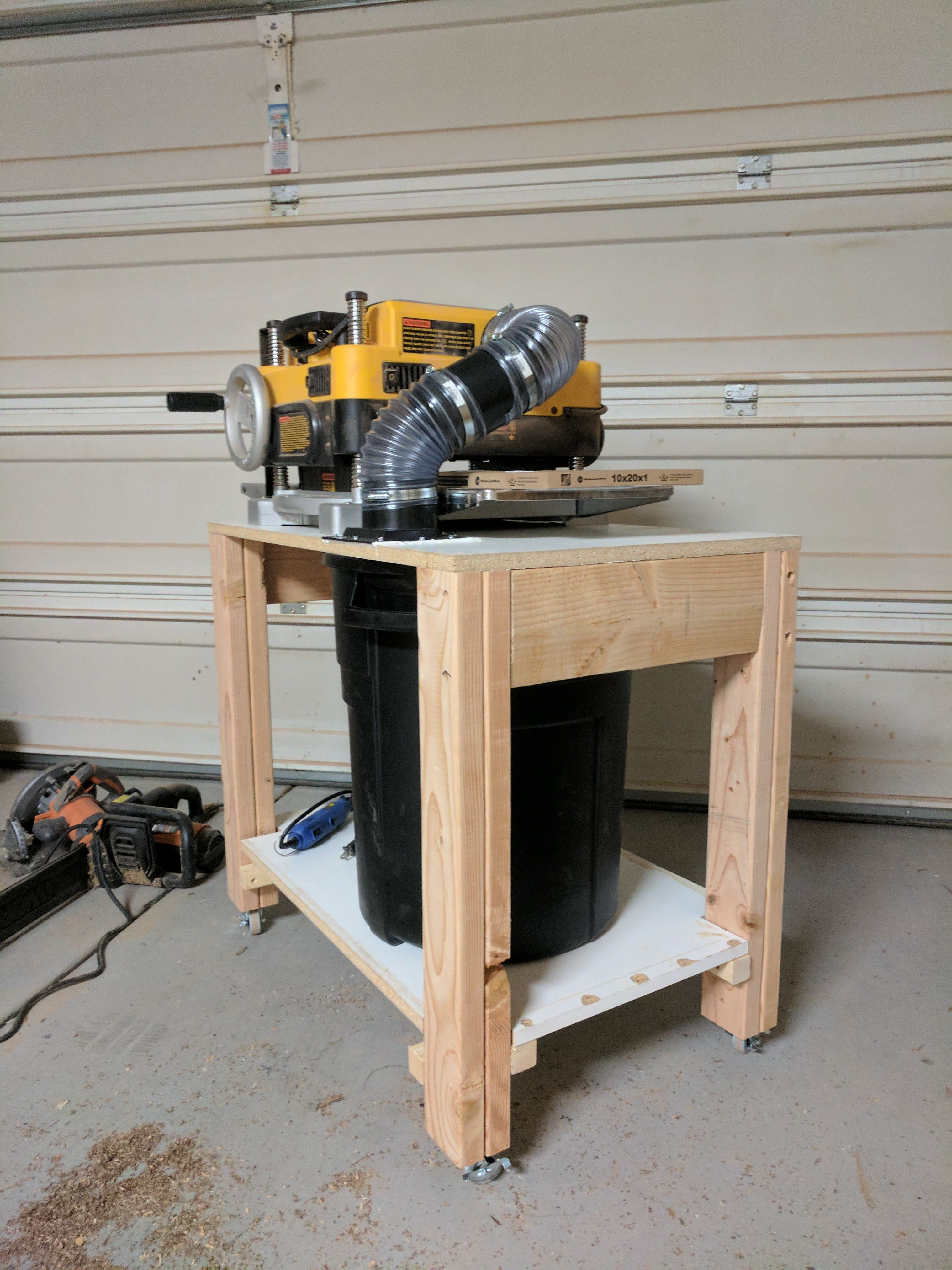 New Mobile Planer Stand With Built In Chip Collection Al On Imgur