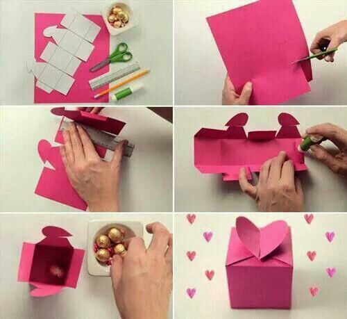 Klein doos met een hartje leuk voor vkleine cadootjes of iets inpakken