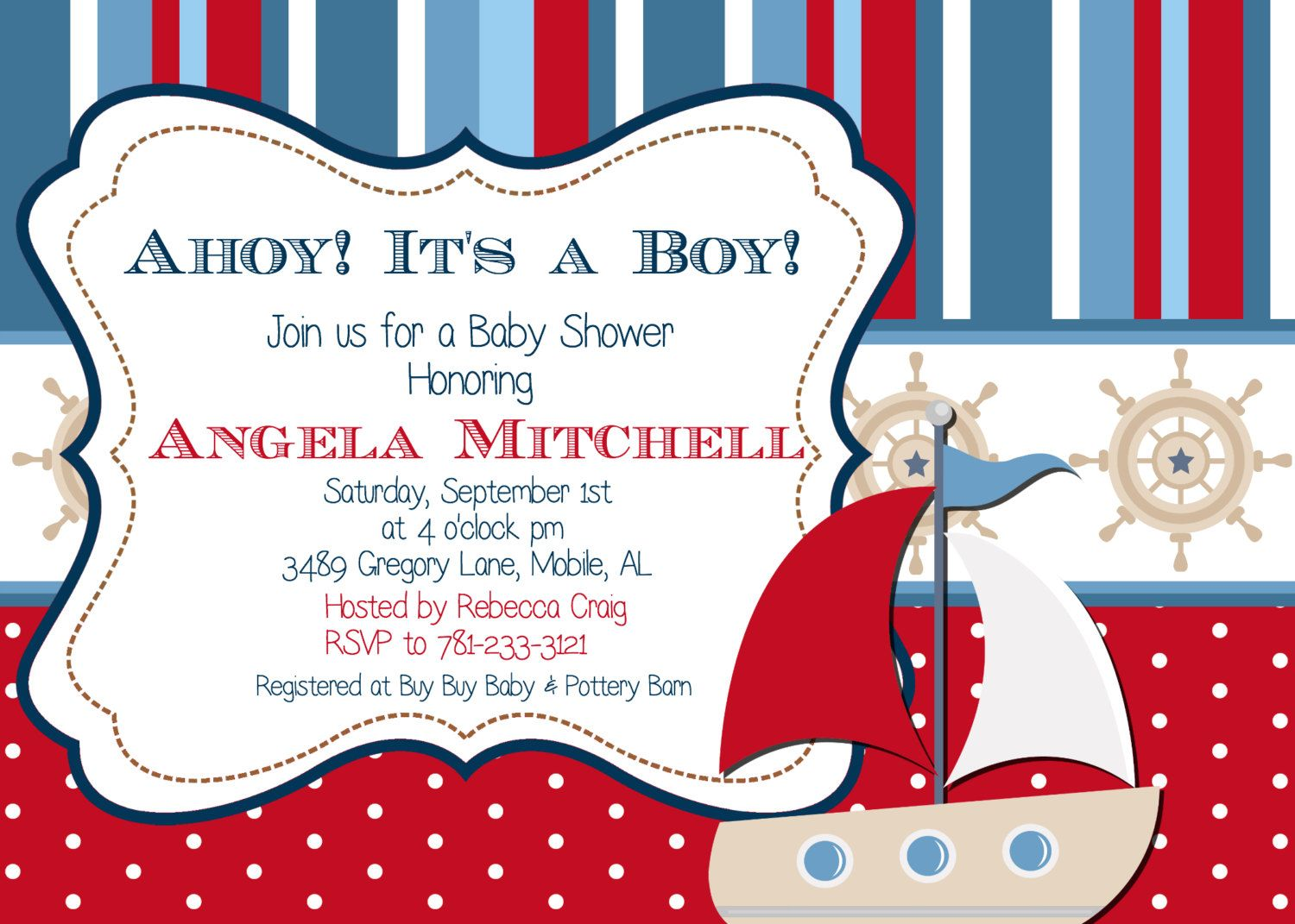 Download Now Sailor Baby Shower Invitations | FREE Baby Shower ...