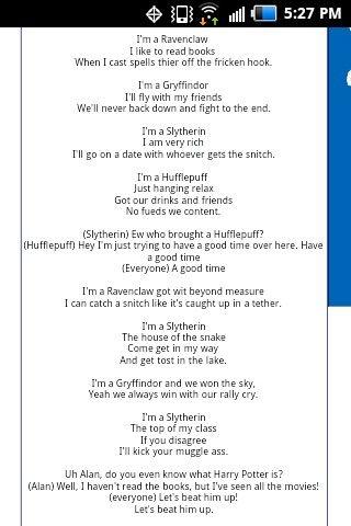 Hogwarts House Song Lyrics 1 Harry Potter Fantastic Beasts Books To Read Hogwarts Houses